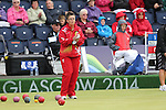 Glasgow 2014 Commonwealth Games<br /> <br /> Caroline Taylor (Wales) competing in the lawn bowls women's pairs.<br /> <br /> 30.07.14<br /> ©Steve Pope-SPORTINGWALES