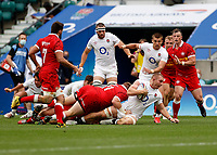 10th July 2021; Twickenham, London, England; International Rugby Union England versus Canada; Sam Underhill of England going to ground with possession