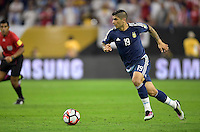 Houston, TX - Tuesday June 21, 2016: Ever Banega during a Copa America Centenario semifinal match between United States (USA) and Argentina (ARG) at NRG Stadium.