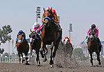 July 5th, 2012. Executiveprivilege and Rafael Bejarano win the Landaluce Stakes at Betfair Hollywood Park, Inglewood, CA.