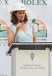 HOF member, Pam Shriver introduces 2015 Inductee, Nancy Jeffet of Dallas,TX. The induction ceremony took place on July 18, 2015