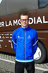 Nicolas Roche (IRL) at the AG2R La Mondiale team bus after the press conference in the Country Hall, Liege, Belgium before the 2012 Tour de France, Liege, Belgium. 28th June 2012.<br /> (Photo by Eoin Clarke/NEWSFILE)