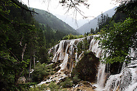 Waterfalls in the Jiuzhaigou National Park. Sichuan Province. China.