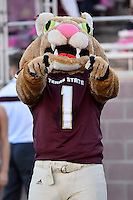 Texas State mascot during first half of an NCAA Football game, Saturday, October 04, 2014 in San Marcos, Tex. Texas State leads Idaho 21-3 at the halftime(Mo Khursheed/TFV Media via AP Images)
