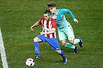 Atletico de Madrid's Koke Resurrecccion (l) and FC Barcelona's Denis Suarez during Spanish Kings Cup semifinal 1st leg match. February 01,2017. (ALTERPHOTOS/Acero)
