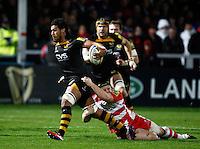 Photo: Richard Lane/Richard Lane Photography. Gloucester Rugby v London Wasps. Aviva Premiership. 02/11/2013 Wasps' Nathan Hughes attacks.