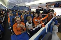 OLYMPIC GAMES: PYEONGCHANG -AMSTERDAM: 26-02-2018, Terugreis TeamNL, ©photo Martin de Jong
