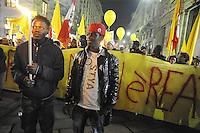 """- Milano, """" la giornata senza immigrati"""", primo sciopero nazionale dei lavoratori stranieri in Italia.<br /> <br /> - Milan, """"the day without immigrants"""", first national strike of foreign workers in Italy."""