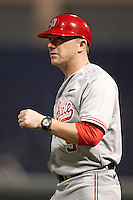 Ohio State Buckeyes head coach Greg Beals #9 during a game against the Seton Hall Pirates at the Big Ten/Big East Challenge at Florida Auto Exchange Stadium on February 18, 2012 in Dunedin, Florida.  (Mike Janes/Four Seam Images)