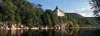 Europe/France/Midi-Pyrénées/46/Lot/Vallée de la Dordogne/Lacave : Château de la Treyne (XIV° et XVII° siècle) et la vallée