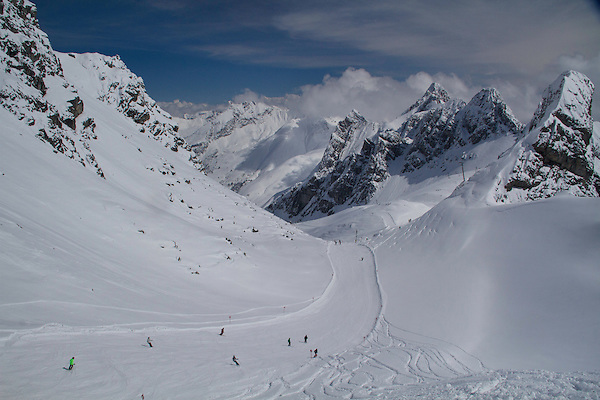 Our first run. St Anton, Austria, Europe 2014,