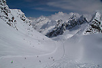 Our first run. St Anton, Austria, Europe 2014,