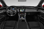 Stock photo of straight dashboard view of 2017 Jaguar XF R-Sport 4 Door Sedan Dashboard