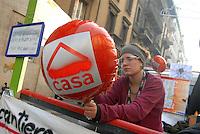- general strike of COBAS labor unions, high school students demonstration  for the right to the home....- sciopero generale dei Sindacati di Base, manifestazione degli studenti medi per il diritto alla casa