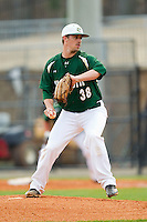 Charlotte 49ers starting pitcher Brock Hudgens (38) in action against the Virginia Commonwealth Rams at Robert and Mariam Hayes Stadium on March 30, 2013 in Charlotte, North Carolina.  The Rams defeated the 49ers 4-3 in game two of a double-header.  (Brian Westerholt/Four Seam Images)