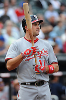Washington Nationals infielder Ryan Zimmerman #11 during a game against the New York Mets at Citi Field on September 15, 2011 in Queens, NY.  Nationals defeated Mets11-1.  Tomasso DeRosa/Four Seam Images