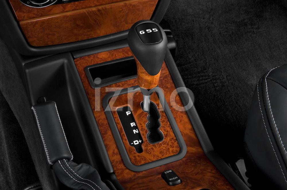 Gear shift detail view of a 2008 Mercedes Benz G55 AMG