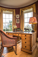 BNPS.co.uk (01202) 558833. <br /> Pic: Duke's/BNPS<br /> <br /> Pictured: The Library at Wormington Grange. <br /> <br /> The lavish contents of one of Britain's most beautiful stately homes are being auctioned off in a £1m everything must go sale.<br /> <br /> Wormington Grange has been owned since the 1970s by John Evetts, the grandson of Lord Ismay, Winston Churchill's chief military strategist during World War Two.<br /> <br /> Mr Evetts has sold the £15m neoclassical Cotswolds mansion as he is downsizing to a smaller property in the area.<br /> <br /> The sale, to be conducted by Duke's, of Dorchester, Dorset, features over 1,000 items ranging in value from £50 kitchen glasses to £100,000 works of art.