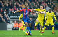 Wilfried Zaha of Crystal Palace & Ross BARKLEY of Chelsea during the Premier League match between Crystal Palace and Chelsea at Selhurst Park, London, England on 30 December 2018. Photo by Andrew Aleks.