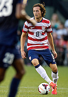 PORTLAND, Ore. - July 9, 2013: Mix Diskerud looks to pass the ball in the first half. The US Men's National team plays the National team of Belize during the 2013 Gold Cup at at JELD-WEN Field.