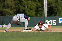 30 May 2008: Stanford Cardinal Cord Phelps during Stanford's 4-2 loss against the UC Davis Aggies in game 1 of the NCAA Stanford Regional at Sunken Diamond in Stanford, CA.