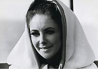Elizabeth Taylor while on location in Capo Caccia, Sardinia, October 1967.