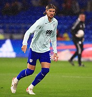 28th September 2021; Cardiff City Stadium, Cardiff, Wales;  EFL Championship football, Cardiff versus West Bromwich Albion; Aden Flint of Cardiff City warms up before the game