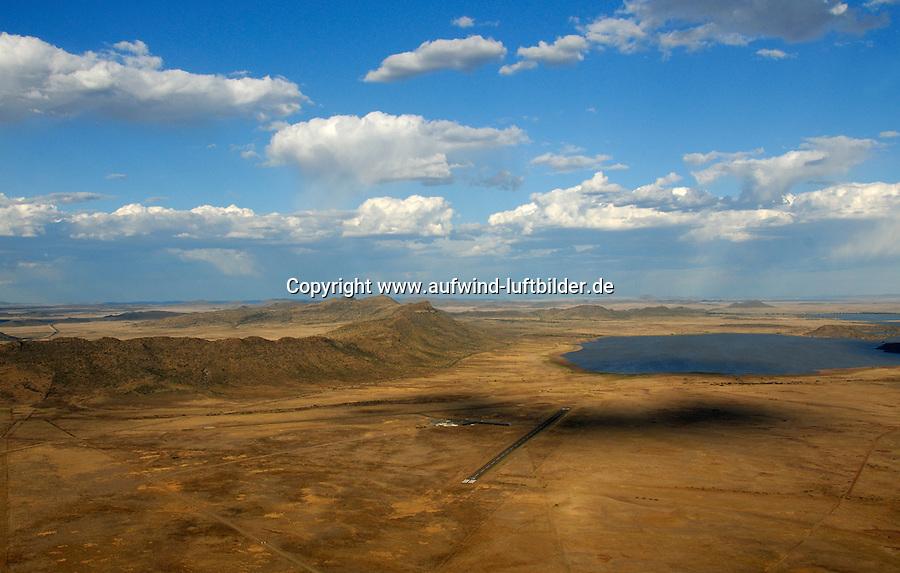 4415 / Flugplatz Gariepdam: AFRIKA, SUEDAFRIKA, 04.01.2007:Flugplatz Gariepdam in der Wueste Karoo