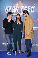 "Jason Isaacs, Sonequa Martin-Green and Shazad Latif<br /> at the ""Star Trek Discovery"" photocall, Millbank Tower,  London<br /> <br /> <br /> ©Ash Knotek  D3347  05/11/2017"