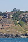 San Juan Island, San Juan Islands, sea side mansions, Strait of Juan de Fuca, Salish Sea, Washington State, Pacific Northwest, USA,