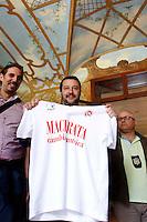 Matteo Salvini<br /> Abbazia di Fiastra, Marche 25-05-2015 Matteo Salvini all' Abbazia di Fiastra<br /> Photo Samantha Zucchi Insidefoto