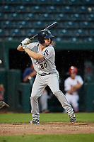 San Antonio Missions center fielder Auston Bousfield (20) at bat during a game against the Springfield Cardinals on June 4, 2017 at Hammons Field in Springfield, Missouri.  San Antonio defeated Springfield 6-1.  (Mike Janes/Four Seam Images)