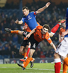 Iain Gray and Lee McCulloch in the box