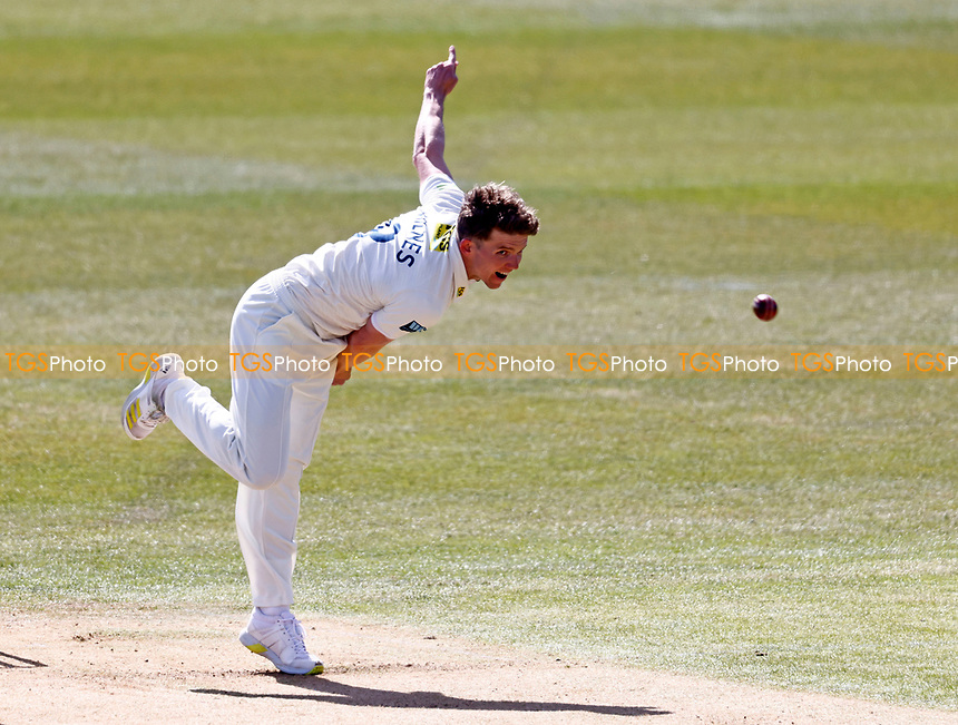 Kent's Matt Milnes bowls during Kent CCC vs Lancashire CCC, LV Insurance County Championship Group 3 Cricket at The Spitfire Ground on 22nd April 2021