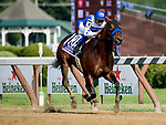 SARATOGA SPRINGS, NY - AUGUST 26: Drefong #10, ridden by Mike Smith, easily wins the Forego Handicap on Travers Stakes Day at Saratoga Race Course on August 26, 2017 in Saratoga Springs, New York. (Photo by Scott Serio/Eclipse Sportswire/Getty Images)