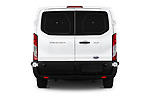 Straight rear view of a 2019 Ford Transit Wagon 350 XLT Wagon Low Roof 60/40 Pass. 148WB 5 Door Passenger Van stock images