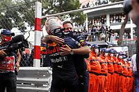 23rd May 2021; Principality of Monaco; F1 Grand Prix of Monaco,   Race Day;   33 VERSTAPPEN Max nld, Red Bull Racing Honda RB16B, portrait, winner with HORNER Christian gbr, Team Principal of Red Bull Racing