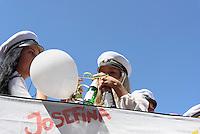 Neue Studenten feiern den Beginn des Studiums,  Kristianstad, Provinz Skåne (Schonen), Schweden, Europa<br /> New students celebrate the beginning of their studies in Kristianstad, Province Skåne, Sweden