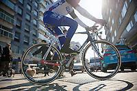 3 Days of De Panne.stage 1: Middelkerke - Zottegem..Matthieu Ladagnous (FRA) of to the start.