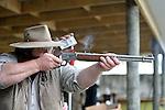 NELSON, NEW ZEALAND - August 14: Nelson Pistol Club 2015 3rd PNZ CAS Wild Bunch Nationals, August 14 2015, Nelson, New Zealand. (Photo by Barry Whitnall/Shuttersport Limited)