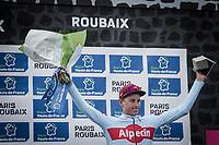 podium:<br /> <br /> 2nd place - Nils Pollit (GER/Katusha Alpecin)<br /> <br /> <br /> <br /> <br /> 117th Paris-Roubaix (1.UWT)<br /> 1 Day Race: Compiègne-Roubaix (257km)<br /> <br /> ©kramon