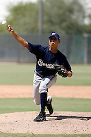 Jose Oviedo - Milwaukee Brewers 2009 Instructional League.Photo by:  Bill Mitchell/Four Seam Images..