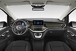 Stock photo of straight dashboard view of 2021 Mercedes Benz EQV - 5 Door Passanger Van Dashboard