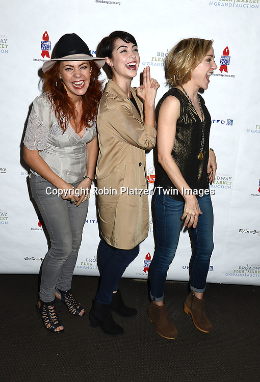 Rachel Tucker, Leanne Cope and Geneva Carr attends the 29th Annual Broadway Flea Market & Grand Auction benefitting Broadway Cares/ Equity Fights Aids  at Shubert Alley on September 27, 2015 in New York, New York, USA.<br /> <br /> photo by Robin Platzer/Twin Images<br />  <br /> phone number 212-935-0770