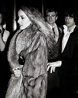 Jerry Hall7059.JPG<br /> New York, NY 1978 FILE PHOTO<br /> Jerry Hall, Mick Jagger<br /> Studio 54<br /> Digital photo by Adam Scull-PHOTOlink.net<br /> ONE TIME REPRODUCTION RIGHTS ONLY<br /> NO WEBSITE USE WITHOUT AGREEMENT<br /> 718-487-4334-OFFICE  718-374-3733-FAX