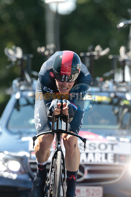 Dylan Van Baarle (NED) Ineos Grenadiers during Stage 20 of the 2021 Tour de France, an individual time trial running 30.8km from Libourne to Saint-Emilion, France. 17th July 2021.  <br /> Picture: Colin Flockton | Cyclefile<br /> <br /> All photos usage must carry mandatory copyright credit (© Cyclefile | Colin Flockton)