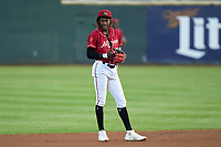 Altoona Curve shortstop Oneil Cruz (13) during a game against the Erie Seawolves on September 7, 2021 at Peoples Natural Gas Field in Altoona, Pennsylvania.  (Mike Janes/Four Seam Images)