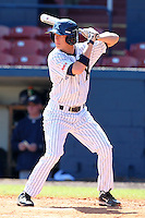 Xavier Musketeers Brian Bruening #35 during a game vs. the Akron Zips at Chain of Lakes Park in Winter Haven, Florida;  March 11, 2011.  Xavier defeated Akron 7-0.  Photo By Mike Janes/Four Seam Images