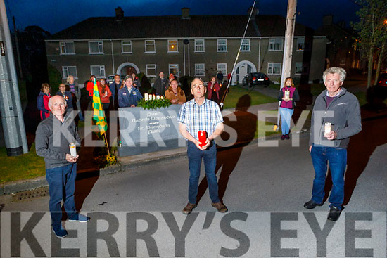 Residents of St Brendans Park who observed the Shine Your Light for our healthcare and essential workers at 9pm on Saturday night.<br /> Front l to r: Richie O'Halloran (Sec), Brendan Wash and Tom O'Brien (Chairman).