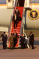 Sept. 11, 2001,  Offutt Air Force Base, Neb, United States<br /> <br /> President Bush returns to Andrews Air Force Base, Md., Sept. 11, 2001, from Offutt Air Force Base, Neb. The president was in Florida when he learned of the terrorist attack on the Pentagon. (U.S. Air Force photo by Senior Airman Neal X. Joiner) (Released) <br /> <br /> <br /> <br /> (Mandatory Credit: U.S. Air Force photo -